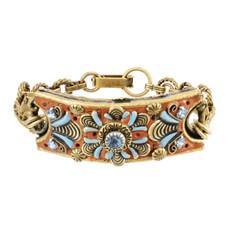 Brown Michal Golan Jewelry Three Part Rectangular Bracelet