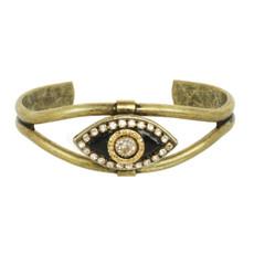 Black Michal Golan Jewelry Evil Eye Cuff Bracelet