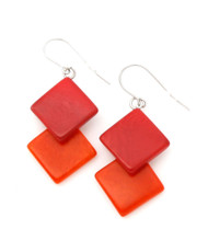 Orange Amelia Fiesta earrings from Encanto Jewelry