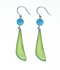 Encanto Jewellery Dientes Avocado Green Earrings