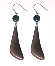 Brown Encanto Jewelry Dientes Coffee Earrings