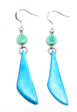Turquoise Dientes Turquoise earrings from Encanto Jewelry