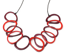 Encanto Jewelry Loops Carmine Necklace