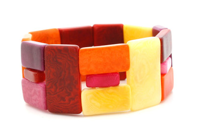 Red Encanto Jewelry Link Sunset Bracelet