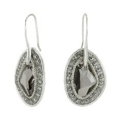 Anat Jewelry Silver Mystery Nouveau Glam Silver Earrings