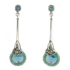 Turquoise Nouveau Glam earrings from Anat Jewelry