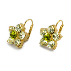 Anat Jewelry Green Flower Earrings