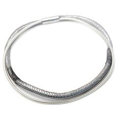 Black Silver Necklete necklace bracelet  from Anat Jewelry