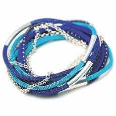 Anat Collection Blues Shabby Chic Necklace Bracelet