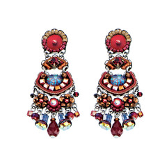 Ayala Bar Red Crimson Shadows Post Earrings