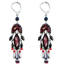Ayala Bar Magic Wind Red French Wire Earrings