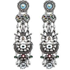 Ayala Bar Capricorn Silver Long Post Earrings