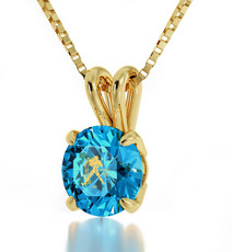 Gold Aquarius necklace from Inspirational Jewelry