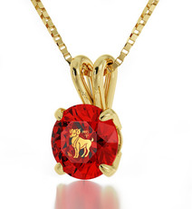 Gold Aries necklace from Inspirational Jewelry
