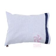 Mint Travel Pillow | Navy Seersucker