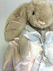 Beige Jellycat Bunny | Little Giraffe Pink Lovey
