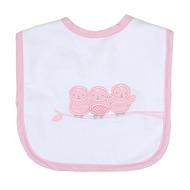 3 Marthas Owl Bib | Pink