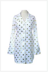 Women's Monogrammed Nightshirt | Polka Dots