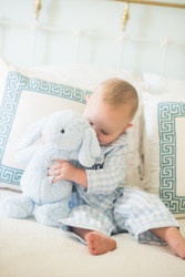 Petit Plume Pajamas + large blue Jellycat bunny