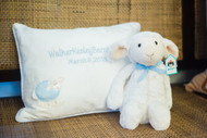 3 Marthas Personalized Pillow + Jellycat Lamb