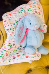 aden & anais Fairgrounds blanket & Jellycat Bunny Set