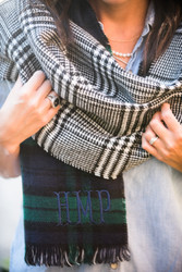 Personalized Blanket Scarf | Green