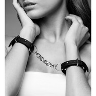 The Maze Collection Maze Thin Handcuffs by Bijoux Indiscrets-Black