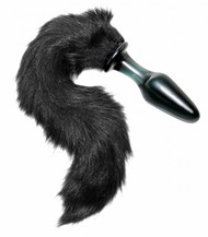 Tailz Midnight Fox Tail Glass Anal Plug by XR Brands