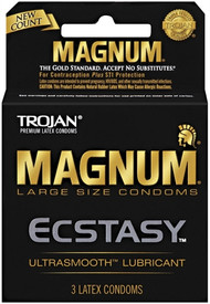 Trojan Magnum Ecstasy Lubricated Condoms 3 Pack