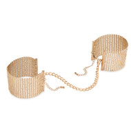Bijoux Indiscrets-Desir Metallique Metallic Mesh Handcuffs-Gold