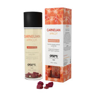 Carnelian Apricot Crystal Massage Oil by Exsens Paris