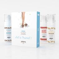 Edible Warming Gourmet Massage Oil Trio Let's Travel Kit by Exsens Paris