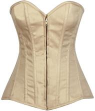 Lavish Cotton Boned Corset by Daisy Corsets-Beige
