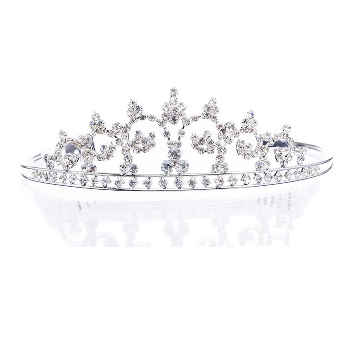 Bridal Wedding Jewelry Crystal Rhinestone Flowers Dazzling Hair Headband Tiara