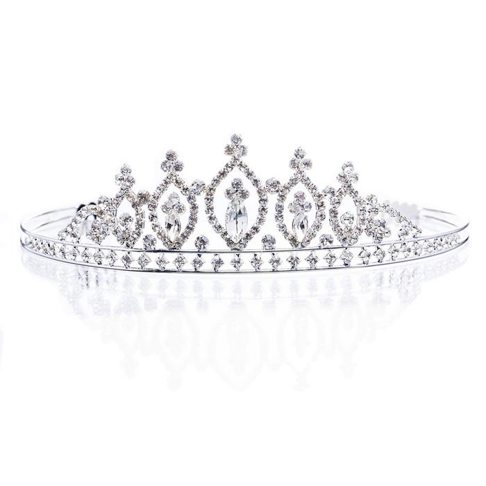 Bridal Wedding Jewelry Crystal Rhinestone Stunning Classic Hair Headband Tiara