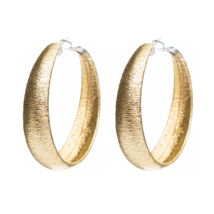 Fashion Lucite Hoop Earrings Metallic Gold Small