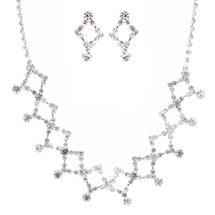 Bridal Wedding Jewelry Set Rhinestone Link