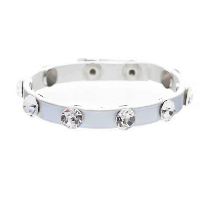Simple Beautiful Stylish Crystal Rhinestone Studs Fashion Wrap Bracelet White