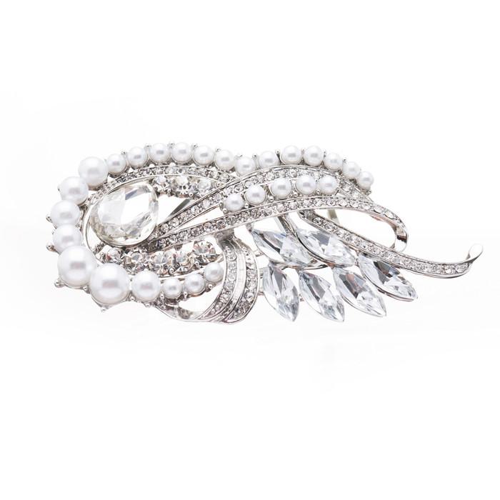 Bridal Wedding Jewelry Crystal Rhinestone Pearl Chic Hair Decorative Comb Pin