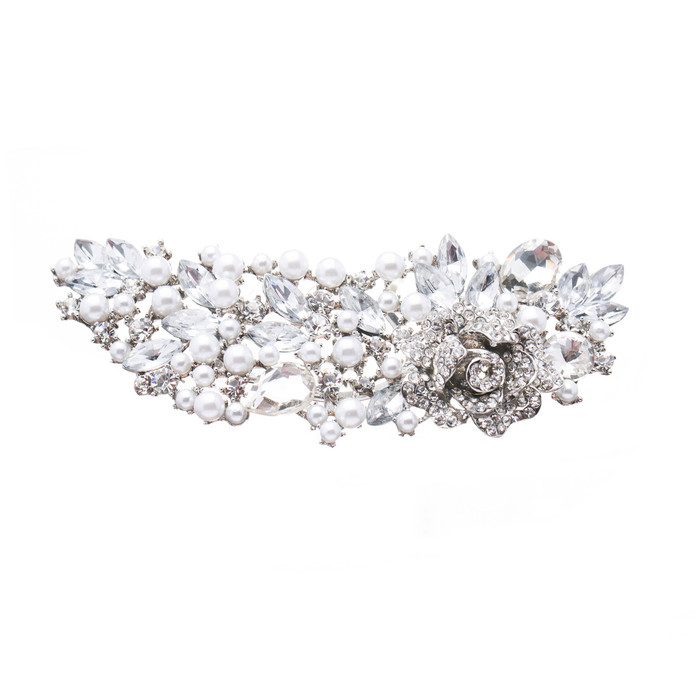 Bridal Wedding Jewelry Crystal Rhinestone Pearl Stylish Hair Decorative Comb Pin