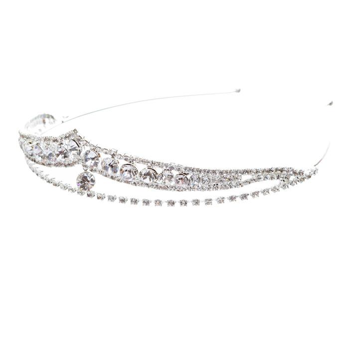 Bridal Wedding Jewelry Crystal Rhinestone Brilliant Classic Headband Tiara