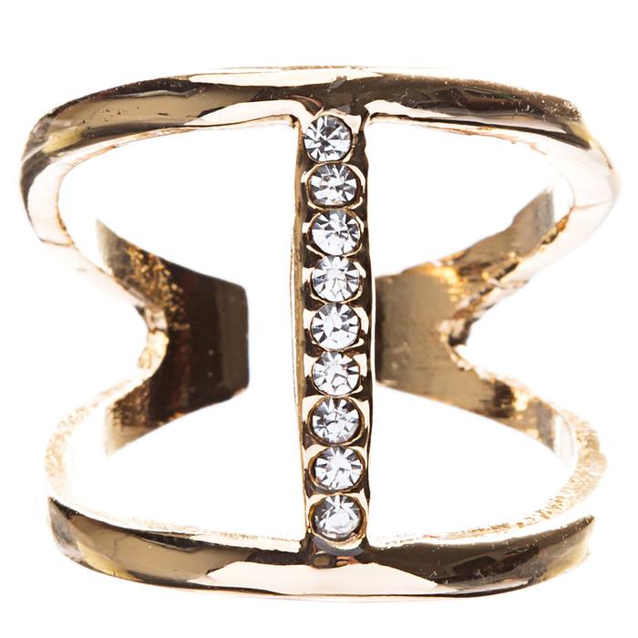 Chic Trendy Gorgeous Simple Classic Crystal Rhinestone Round Fashion Ring R208