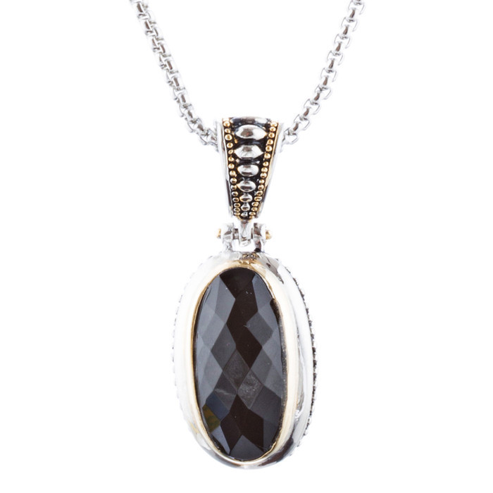 Beautiful Simple Classy Pendant Charm Two-Tone Fashion Necklace N97 SV