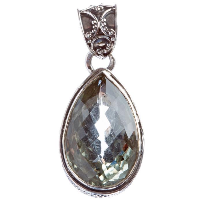 925 Sterling Silver Natural Gemstones Quartz Pendant FJSVP2072