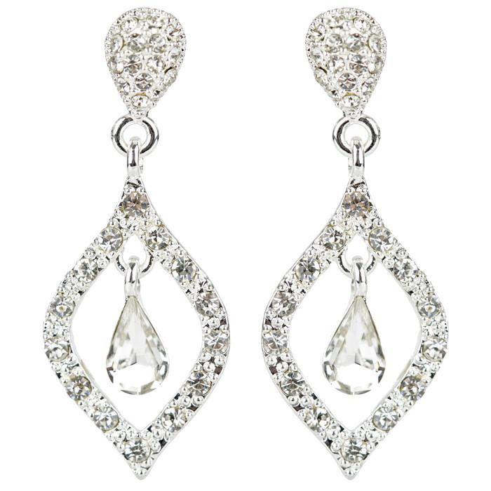 Bridal Wedding Prom Jewelry Classic Sparkling Crystal Rhinestone Earrings E1193
