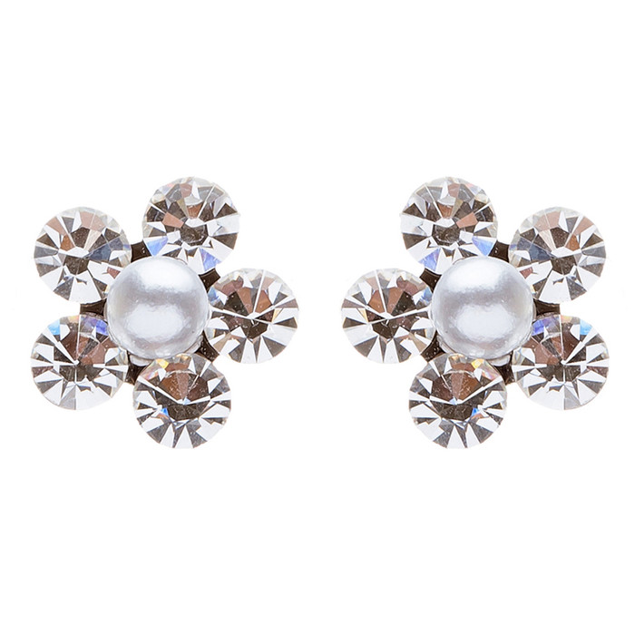 Adorable Cute Floral Design Charm Bridal Prom Fashion Earrings E682