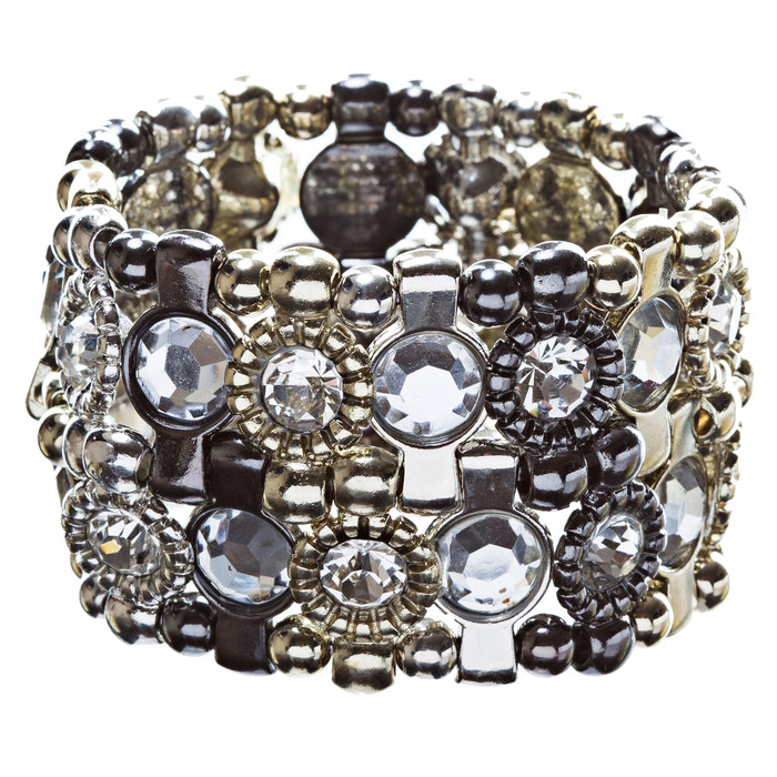 Crystal Vintage Look Stretch Fashion Bracelet Multi