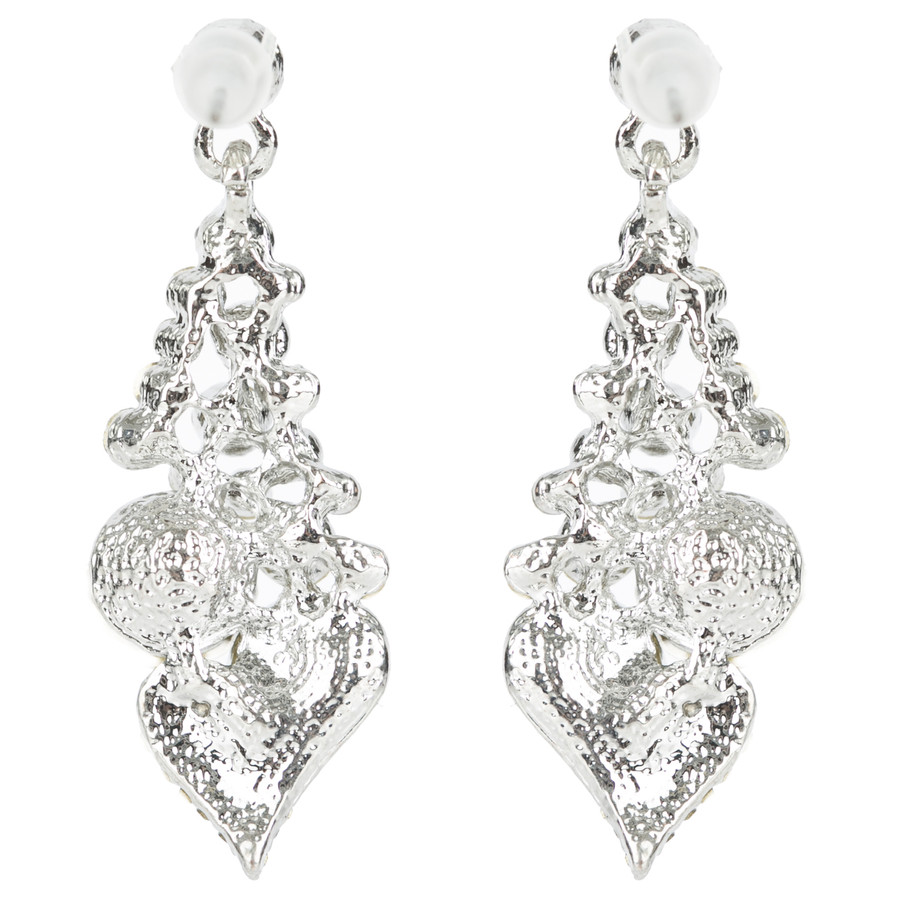 Bridal Wedding Prom Jewelry Chic Sparkling Crystal Rhinestone Earrings E1192 SV