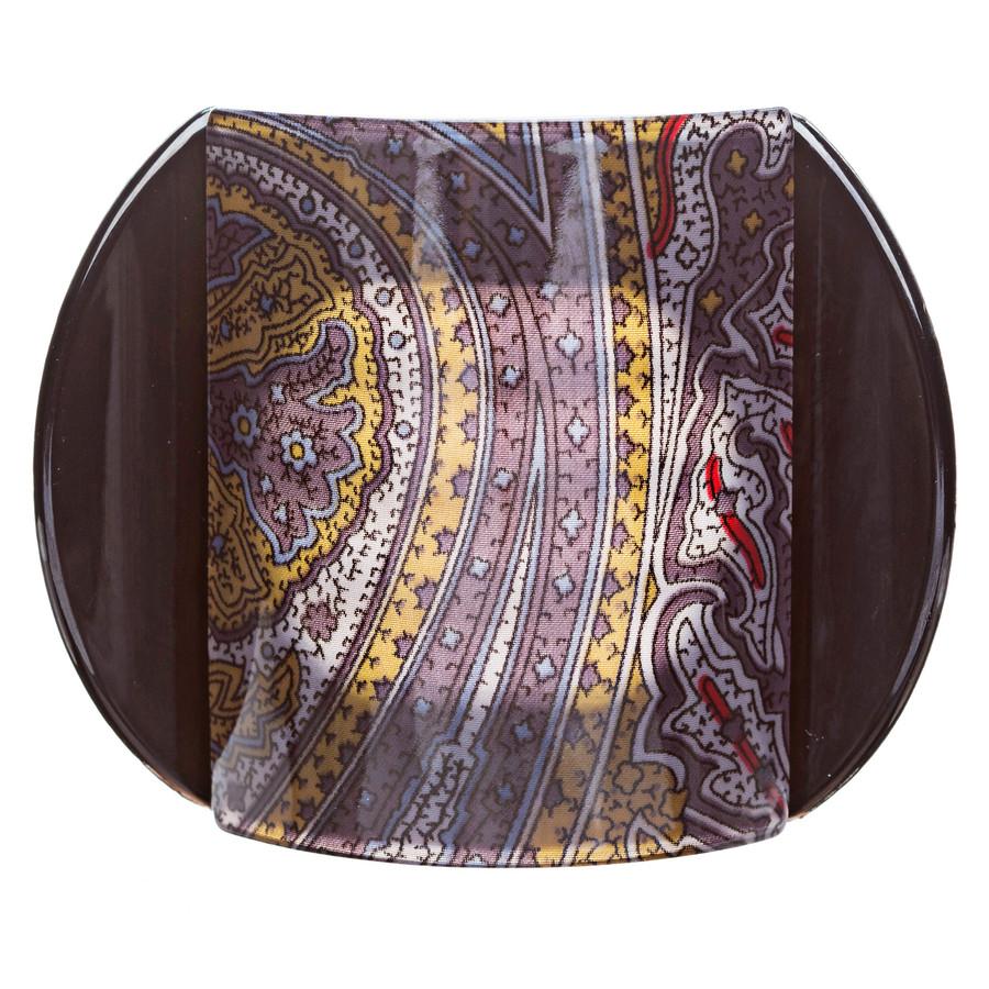 Woman Fashion Hair Claw Clip Lucite Floral Black Large