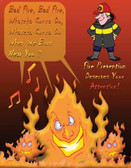 Fire Prevention Safety Posters in ENGLISH  pic 1